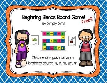 Free Download! Beginning Blends Board Game