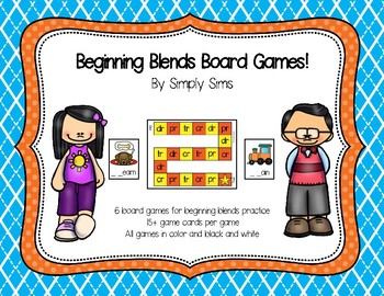 Beginning Blends Board Games