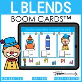 Beginning Blends Boom Cards | L Blends Distance Learning