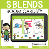 Beginning Blends Boom Cards | S Blends Distance Learning