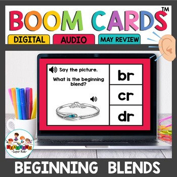 Beginning Blends Boom Cards for Kindergarten