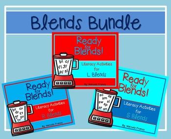 Beginning Blends Bundle-Literacy Activities for R Blends, L Blends, and S Blends
