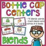 Beginning Blends CCVC Words Bottle Cap Centers (L R and S Blends Words)