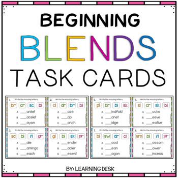 Beginning Blends Center (Task Cards)