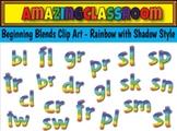 Beginning Blends Clip Art Rainbow Style