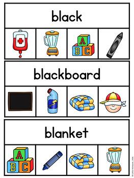 Beginning Blends Activities as Clip Cards Center | Phonics Centers 1st Grade