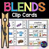 Beginning Blends Activities Clip Cards Center | Phonics Centers 1st Grade