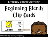 Beginning Blends Clip Cards (Literacy Center Activity)