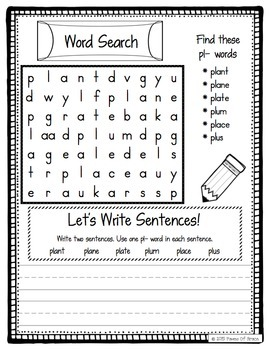 Beginning Blends Word Work Activity Packet-NO PREP