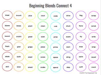 Beginning Blends Connect 4