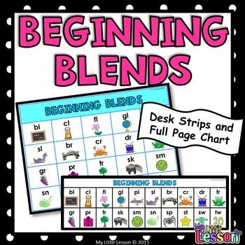 Beginning Blends Desk Strips and Poster
