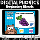 Beginning Blends Digital Phonics Activities | Distance Learning