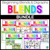 Beginning Blends & Digraphs Center Activities for Phonemic Awareness Mega Pack