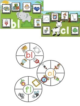 Beginning Blends & Digraphs Center Activities for Phonemic Awareness Mega Pack