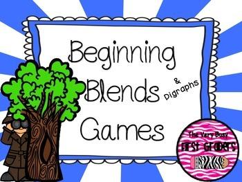 Beginning Blends & Digraphs Games