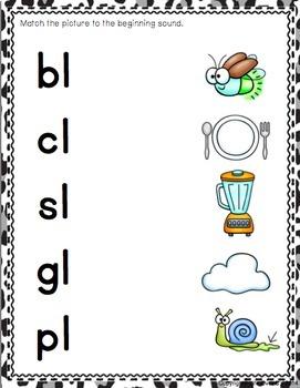 Beginning Blends & Digraphs Matching Mats for Phonemic Awareness