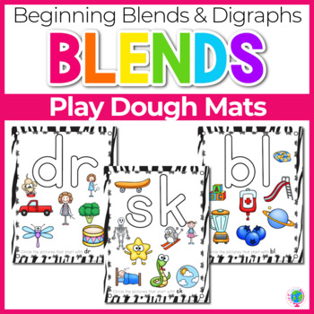 Beginning Blends & Digraphs Play Dough Mats for Phonemic Awareness