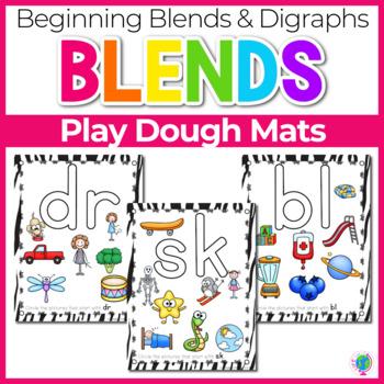 Beginning Blends & Digraphs Play Dough Mats for Phonemic A
