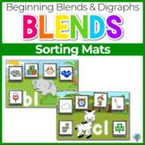 Beginning Blends & Digraphs Sorting Mats for Phonemic Awareness