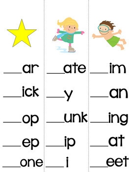 Beginning Blends & Digraphs Strips