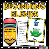 Beginning Blends Worksheets  - br cr dr fr gr pr tr