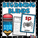Beginning Blends Worksheets - sk sm sn sp st sw tw