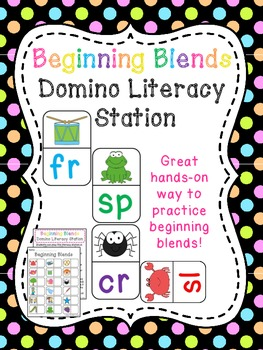 Blends Dominoes Literacy Station