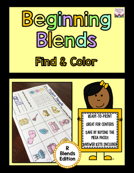 Beginning Blends Find and Color - R-Blends Edition
