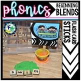 Beginning Blends Flash Card Sticks