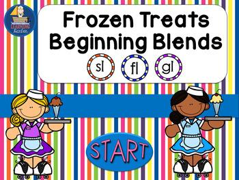 Beginning Blends Frozen Treats Theme Interactive PowerPoint Self Correcting