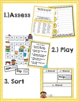 Beginning Blends Game and Word Sort