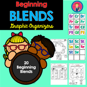 Beginning Blends Graphic Organizers {Cut and Paste} for K-1