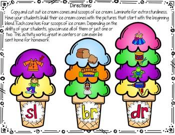 Beginning Blends (Ice Cream Cone Puzzles)
