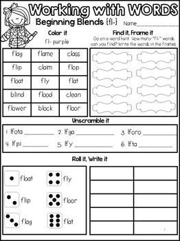 Beginning Blends Interactive FREEBIE {fl- & br-}