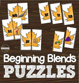 Beginning Blends Leaf Puzzles
