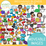 Beginning Blends MOVEABLE Clip Art {MOVEABLE PHONICS IMAGES}