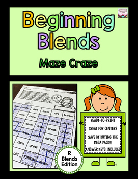 Beginning Blends Maze Craze - R-Blends Edition