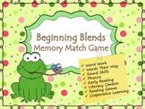 Beginning Blends Memory Game (Phonics)