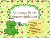 Beginning Blends Memory Game (Phonics)