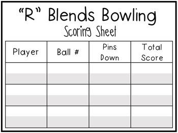 Consonant Blends R, L, S Game 1st Grade Literacy Center Activity