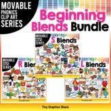 Beginning Blends Phonics Clip Art Bundle