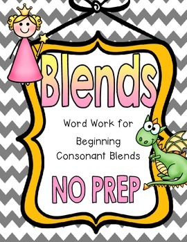 Beginning Blends Phonics/Word Work Activities {No Prep}