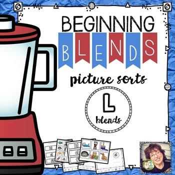 Beginning Blends Picture Sorts ~ L Blends