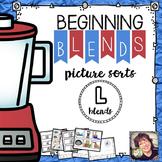 Beginning Blends Picture Sorts  L Blends