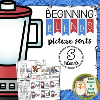 Beginning Blends Picture Sorts S Blends