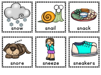 Beginning Blends Picture Sorts S Blends