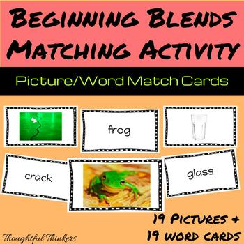 Beginning Blends Picture/Word Matching Activity