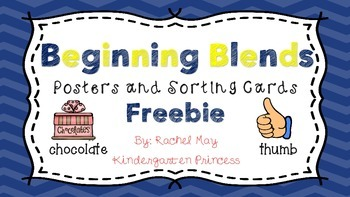 Beginning Blends Posters and Word Sort Pack  FREEBIE!