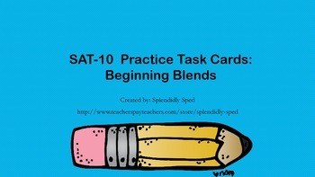Practice with Beginning Blends for Standardized  Testing i