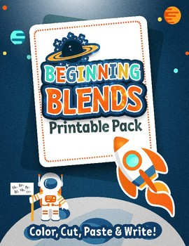 Beginning Blends Printable Pack: Color, Cut, Paste & Write